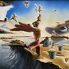 """A Last Minute Surrealistic Apocalyptic Education - oil on canvas - 24"""" x 18"""" by Dave Martsolf"""