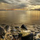 the sea, the sticks, the boat, the bridge by Chris Cherry