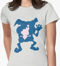 PKMN Silhouette - Mr. Mime Family Women's Fitted T-Shirt