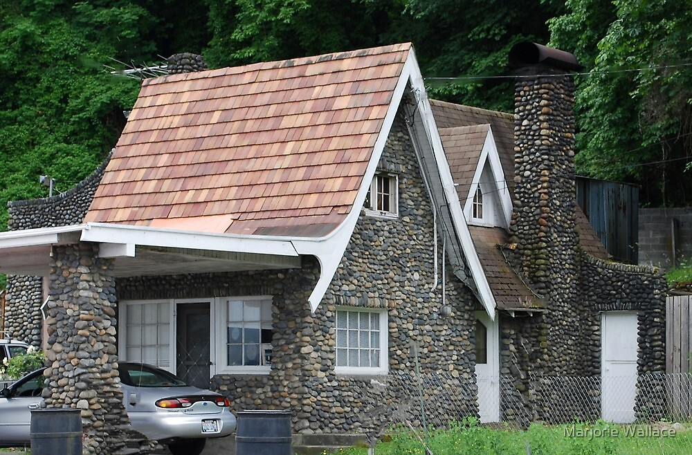 Stone Cottage on Rainier Avenue by Marjorie Wallace