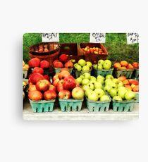 Apples at Farmer's Market Canvas Print