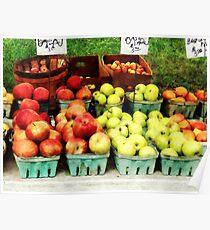 Apples at Farmer's Market Poster