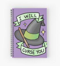i will curse u Spiral Notebook