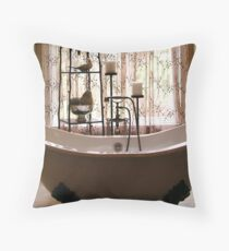 Soaking Tub extraordinaire Throw Pillow