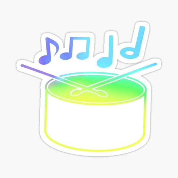 Bunte Trommel Glänzender Sticker