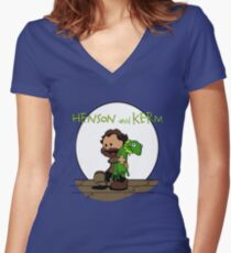 Imagination Mash-up Women's Fitted V-Neck T-Shirt