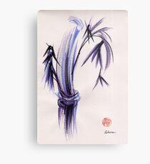 """rhythm and grace"" - Zen watercolor sumi e bamboo painting Metal Print"