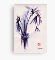 """rhythm and grace"" - Zen watercolor sumi e bamboo painting Canvas Print"