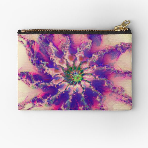 Fractalize abstraction Zipper Pouch