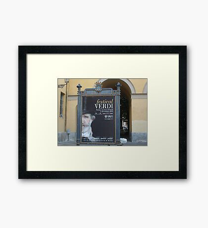 TREATRO REGIO DI PARMA-ITALIA- IL FESTIVAL DI GIUSEPPE VERDI   ---vetrina RB EXPLORE 29 OTTOBRE 2012 --- Framed Print
