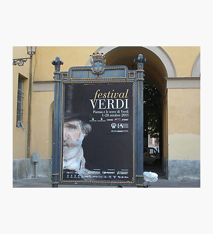 TREATRO REGIO DI PARMA-ITALIA- IL FESTIVAL DI GIUSEPPE VERDI   ---vetrina RB EXPLORE 29 OTTOBRE 2012 --- Photographic Print