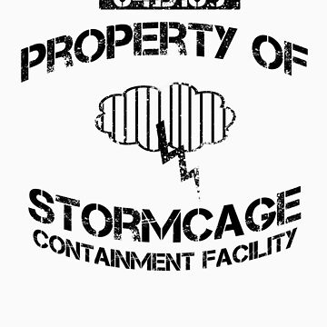 Stormcage Containment Facility Black Writing by KruithofDesigns
