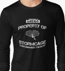 Stormcage Containment Facility White Writing Long Sleeve T-Shirt