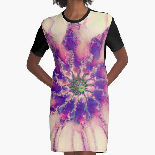 Fractalize abstraction Graphic T-Shirt Dress