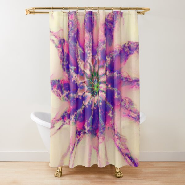 Fractalize abstraction Shower Curtain