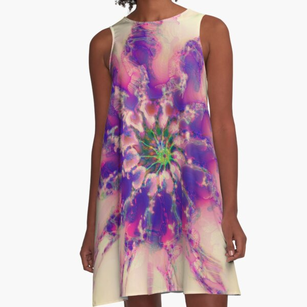 Fractalize abstraction A-Line Dress