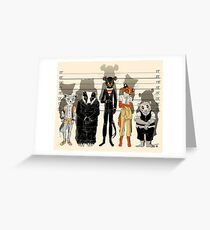 Unusual Suspects Greeting Card