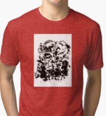 Black Flower. Tri-blend T-Shirt