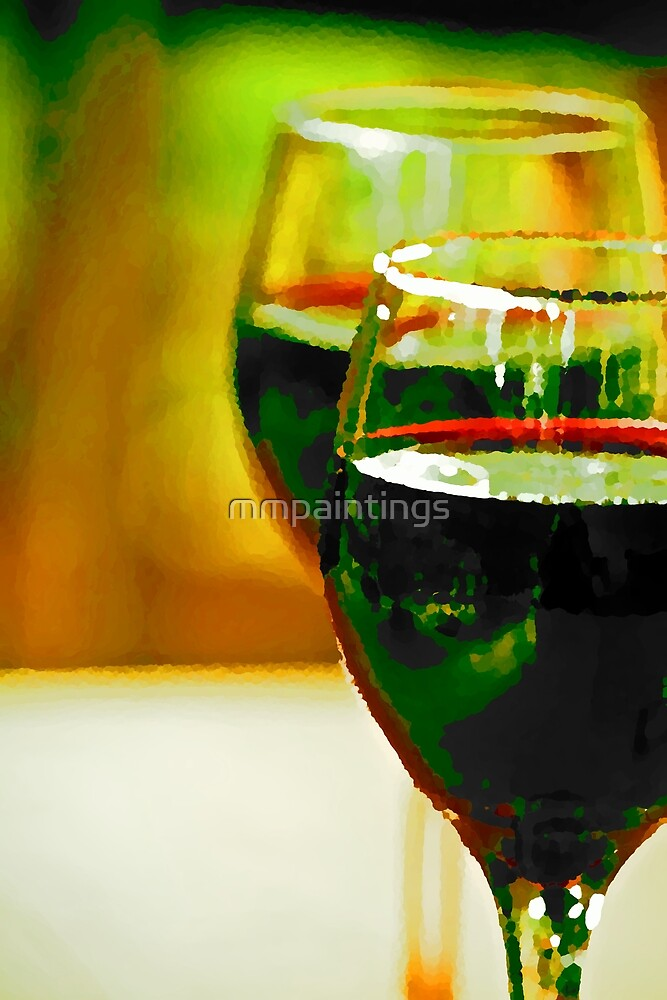 vino tinto by mmpaintings