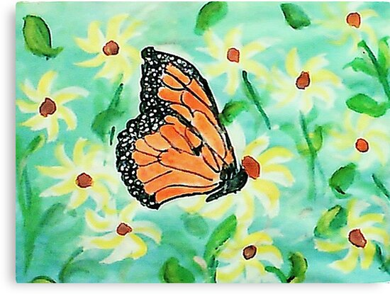 At last I made a butterfly,,,watercolor by Anna  Lewis, blind artist