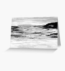 'Sea light' black n white  Greeting Card