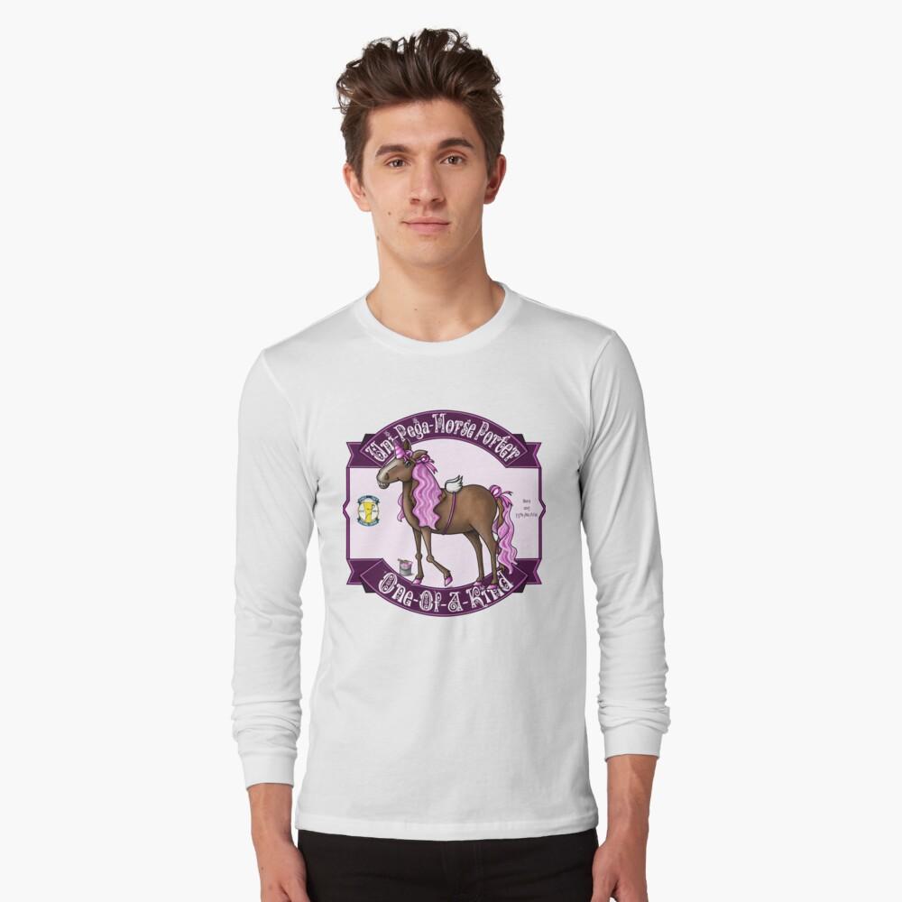 Uni-Pega-Horse Porter Long Sleeve T-Shirt
