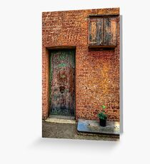 For Rent One Bed Apartment with Small Garden Greeting Card