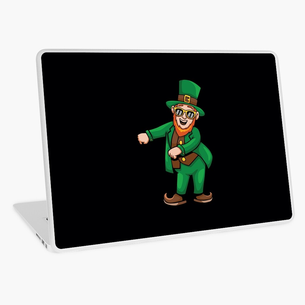 Floss Dance Leprechaun St Patricks Day Girls Laptop Skin