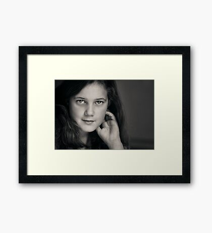 The poetry that fills her heart shows in her eyes. Framed Print