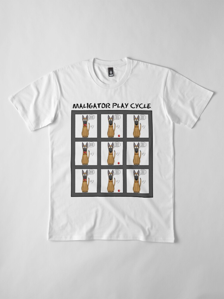 Alternate view of Maligator Play Cycle Premium T-Shirt