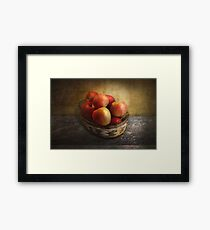 Food - Apples - Apples in a basket  Framed Print