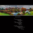 Squam River Poem and Panorama by Wayne King