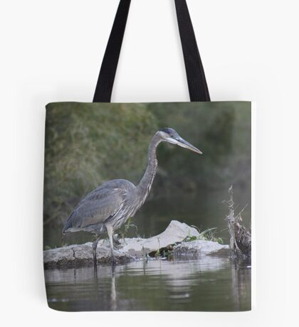 Blue Heron on the Milwaukee River Tote Bag