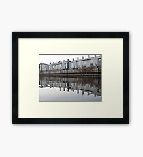 Architecture on the Milwaukee River Framed Print