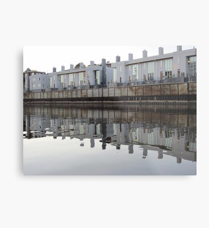 Architecture on the Milwaukee River Metal Print