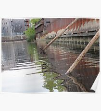 Rusted Industry and Nature Poster