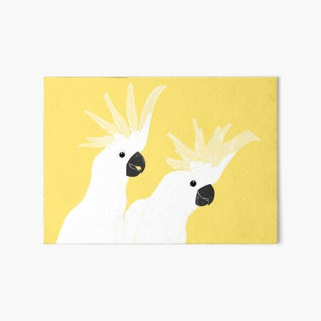 Cockatoos Art Board Print