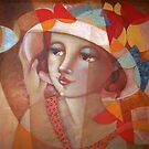 Girl with a butterflies hat by marostega