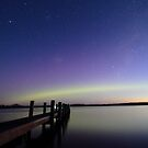 aurora australis starting - Squeaking Point by gaylene