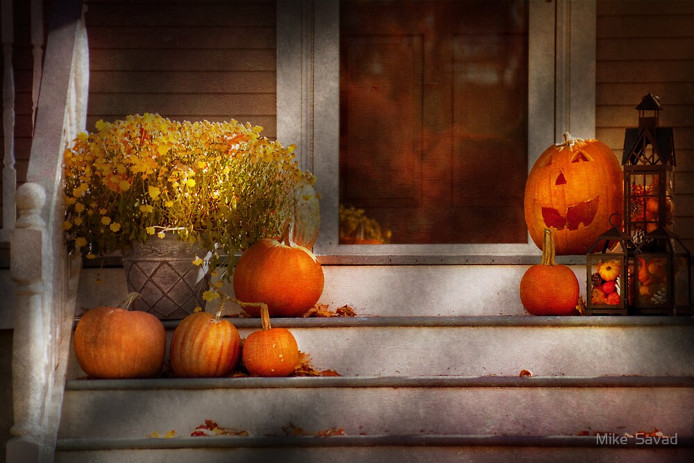Autumn - Halloween - We're all happy to see you by Michael Savad