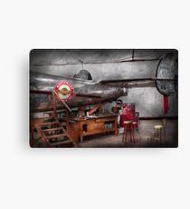 Airplane - The repair hanger  Canvas Print