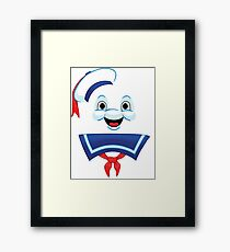 Mr. Marshmallow Destruction (Happy Version) Framed Print