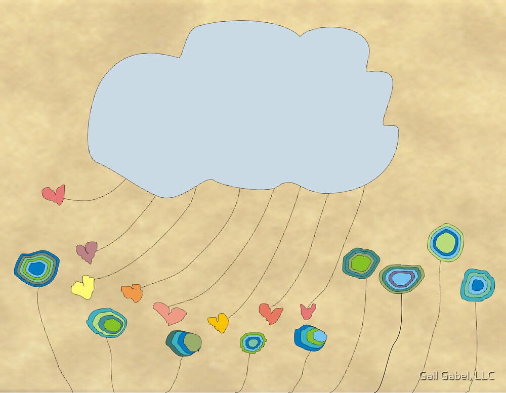 Whimsical Cloud Art by Gail Gabel, LLC