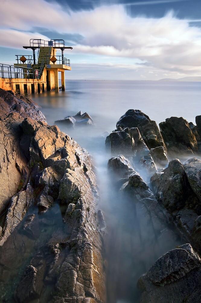 Blackrock diving tower Salthill Galway Ireland. by MickBourke