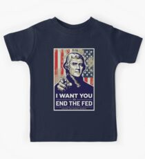 Thomas Jefferson End the Fed Kids Tee
