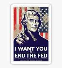 Thomas Jefferson End the Fed Sticker