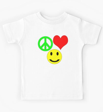 peace, love and happiness Kids Clothes