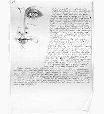 Portrait of Vali Myers Poster