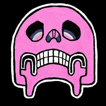 Pink Pop Skull by Vinko
