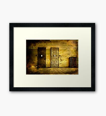 Abandoned Psychiactric Hospital- Textured Framed Print